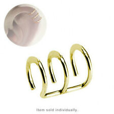 Gold Plated Fake Cartilage Clip-On Ring