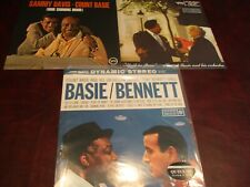 COUNT BASIE BASIE & BENNETT + SAMMY DAVIS SHINING HOUR 180 GRAM LP'S+APRIL PARIS