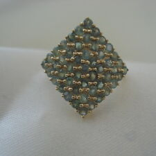 1.53ct Certified Alexandrite Gold Cluster Ring