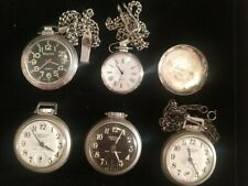 Lot Of Vintage Westclox Scotty Pocket Watches