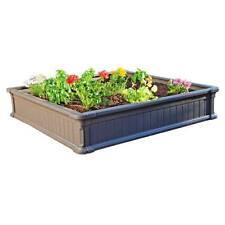 Lifetime Raised Gardening Bed Kit 4x4 Feet Pack of 3 – Wood Grain Impression