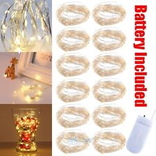 12Pcs 2M 20 LED Copper Wire Mini Fairy String Party Lights Lamp Xmas Waterproof