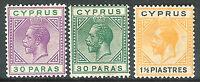 Cyprus1921 part set  multi-script mint SG87/88/91 (3)