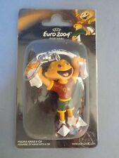 Rare Keychain Key ring Mascot PVC Quinas Kinas Euro 2004 UEFA Portugal - 6 cm