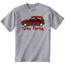 VINTAGE ITALIAN CAR FIAT UNO TURBO RACING - NEW COTTON T-SHIRT