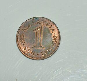 Malaysia Sen 1971 Bronze 1 Coin