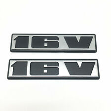 2 PACK - CHROME BLACK 16V BADGE EMBLEM - VW RABBIT GOLF JETTA GTi GT SCIROCCO