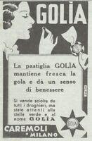 Y3353 Caramelle GOLIA - Pubblicità d'epoca - 1935 vintage advertising