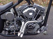 "Santee 2"" Laf L.A.F Chrome Y Drag Pipes Exhaust 1971-1984 Harley Shovelhead FX"