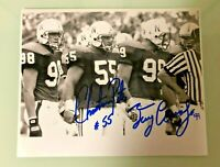 NEBRASKA FOOTBALL CHRISTIAN PETER #55 & TERRY CONNEALY #99 SIGNED PHOTO CAPTAINS
