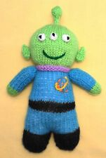 KNITTING PATTERN - Toy Story Alien inspired 18 cms soft toy doll