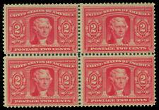 US 1904 Louisiana Purchase Expo - Jefferson 2c carmine Sc# 324 mint MH/NH blk 4