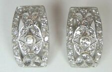 Antique Art Deco Vintage 2.30 Ct Diamond Platinum Earrings EGL USA Fine Jewelry
