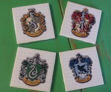 Harry potter, hogwarts crests ceramic coasters (set of 4)