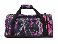 "Muddy Girl Pink 19"" Duffel Overnight Carry on Bag, Shoulder Strap Outside Pocket"