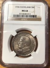 1936 Cleveland Great Lakes Expo Commemorative Ngc Ms 64
