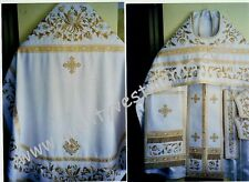 Russian Orthodox Priest vestment vestments Eastern  Embroidered White