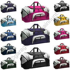 Large Colorblock Sport Duffel Football Baseball Cheer Gymastics Workout Gym Bag