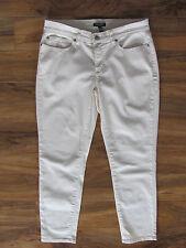 Eileen Fisher Slim Ankle Jeans-Stretch Denim-Org Cotton-Ecru -Size 10P -NWT $178