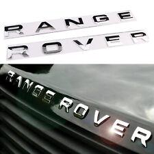Chrome Silver Car Hood Trunk Logo Letters emblem Badge For Range Rover