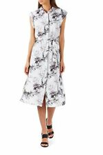 Polyester Floral Knee Length Shirt Dresses