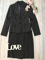 Next Size 12 skirt 8 jacket smart grey work office business career skirt suit VG