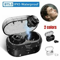 Bluetooth 5.0 Headset true Wireless Earphones Sports Earbuds Stereo Headphones