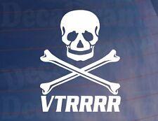 Vtrrrr Skull & Crossbones Novedad car/window/bumper pegatina para caber Citroen Vtr