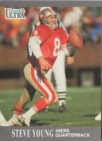1991 Fleer Ultra #256 Steve Young San Francisco 49ers NFL Football Card