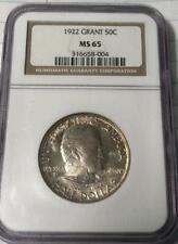 1922 Grant (No Star) Commemorative Silver Half Dollar - NGC MS-65 - Gem