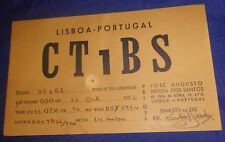 Rp2517 Vtg Ct1Bs Lisboa Portugal 1952 Amateur Ham Cb Shortwave Radio Qsl Card