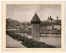 Suisse, Luzern, Pilatus, Schroeder & Cie. Zürich vintage albumen print Photomé