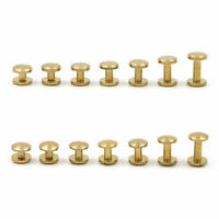 Belt Screw Brass Solid Rivets Stud Head Leather Craft Chicago Nail Wallet Round