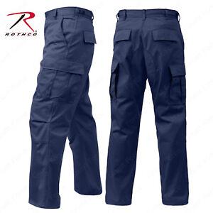 Men's Navy Blue Fatigue Pant - Rothco 6 Pocket Tactical Military BDU Work Pants