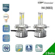 2x H4 4-Sides Shortest LED Headlight Kit Low High Beam Light Bulb 6000K White