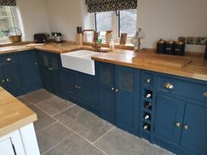 Della and Sean's Freestanding Seaside Kitchen in Ilminster-painted pine sample