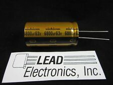 Nichicon Gold  6800uF 63v Radial Electrolytic Capacitor for Audio 2018 D/C