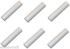 3 Inch White Plastic Candle Cover For Candelabra Base Lamp Sockets, 6 Pieces