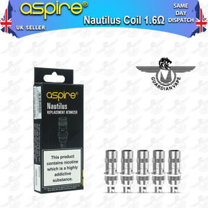ASPIRE NAUTILUS BVC COILS 1.6OHM – PACK OF 5