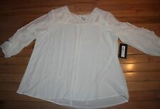 Women's size XL NEW WITH TAGS Ivory open arms blouse