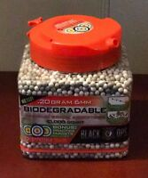Biodegradable Premium Grade Airsoft BB's .20g 6mm Easy Pouring by Black Ops