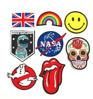 DIY Embroidered Sew On Iron Patch Badge Clothes T shirt Sewing Rainbow NASA FAST