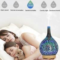 3D Feuerwerk Glas Ätherisches Öl Aroma Diffusor LED Ultraschall Luftbefeuchter