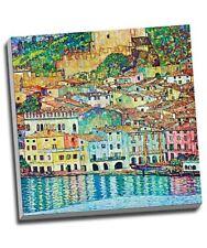 "Gustav Klimt Malcena At The Gardasee Canvas Print Wall Art 20x20"""