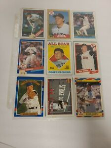 Lot of 18 Vintage Baseball Cards In A Protective Sheet - Binder A (4) EUC