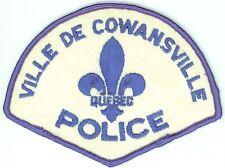 Ville de Cowansville Police, Quebec, Canada HTF Uniform/Shoulder Patch