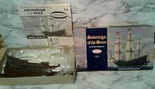 Vntg 1967 AURORA Model Kit Navy Sailing Ship SOVEREIGN of the SEAS - Unbuilt