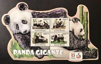 GUINEA BISSAU GIANT PANDA SHAPED STAMPS SHEET 2011 MNH PANDA BEAR WILD ANIMALS