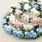 Rose Floral Garland Wedding Bridal Flower Girl Prom Headdress Hairband Headband