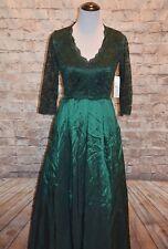 Modcloth Applaud Your Elegance Maxi Dress NWT  4  Eliza J Green lace taffeta